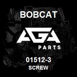 01512-3 Bobcat SCREW | AGA Parts