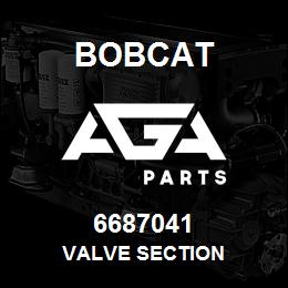 6687041 Bobcat VALVE SECTION | AGA Parts