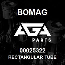 00025322 Bomag Rectangular tube | AGA Parts