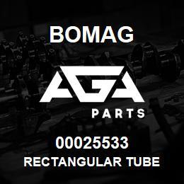 00025533 Bomag Rectangular tube | AGA Parts