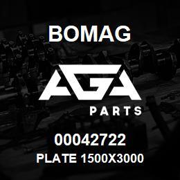 00042722 Bomag Plate 1500x3000 | AGA Parts