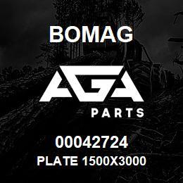 00042724 Bomag Plate 1500x3000   AGA Parts