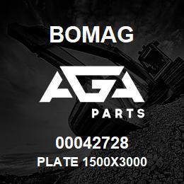 00042728 Bomag Plate 1500x3000 | AGA Parts