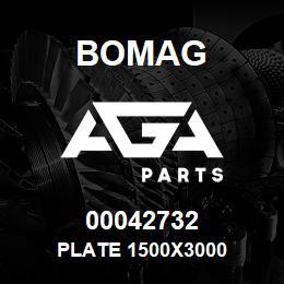 00042732 Bomag Plate 1500x3000 | AGA Parts