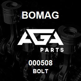 000508 Bomag Bolt | AGA Parts
