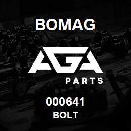 000641 Bomag Bolt | AGA Parts