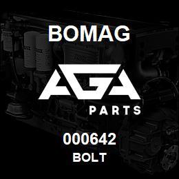 000642 Bomag Bolt | AGA Parts