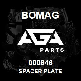 000846 Bomag Spacer plate   AGA Parts