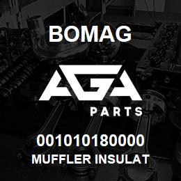 001010180000 Bomag MUFFLER INSULAT | AGA Parts