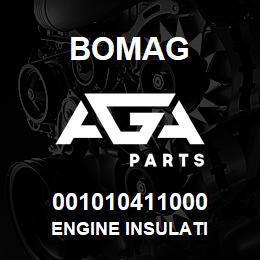 001010411000 Bomag ENGINE INSULATI | AGA Parts