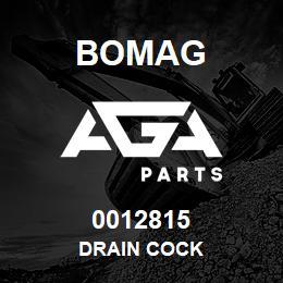 0012815 Bomag Drain cock   AGA Parts