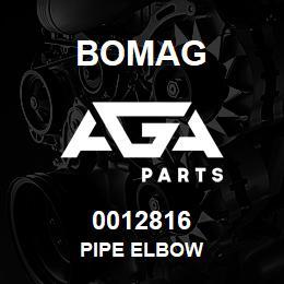 0012816 Bomag Pipe elbow | AGA Parts