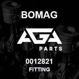 0012821 Bomag Fitting | AGA Parts