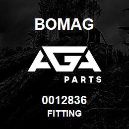 0012836 Bomag Fitting   AGA Parts