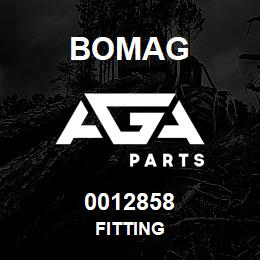 0012858 Bomag Fitting | AGA Parts
