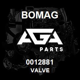 0012881 Bomag Valve | AGA Parts