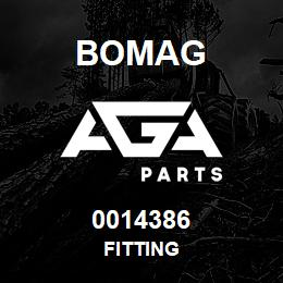 0014386 Bomag Fitting | AGA Parts