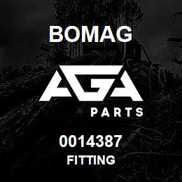 0014387 Bomag Fitting | AGA Parts
