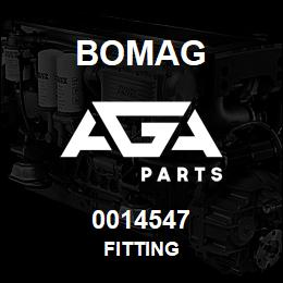 0014547 Bomag Fitting | AGA Parts