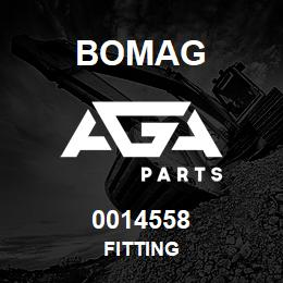 0014558 Bomag Fitting | AGA Parts
