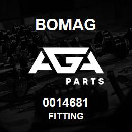 0014681 Bomag Fitting   AGA Parts