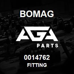 0014762 Bomag Fitting | AGA Parts