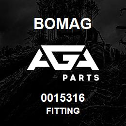 0015316 Bomag Fitting   AGA Parts