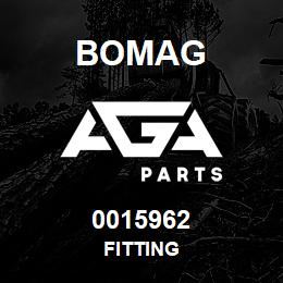 0015962 Bomag Fitting | AGA Parts