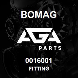 0016001 Bomag Fitting | AGA Parts