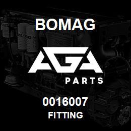 0016007 Bomag Fitting | AGA Parts