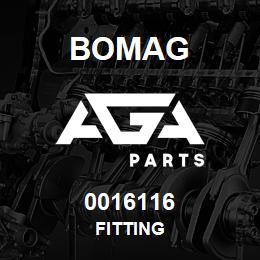 0016116 Bomag Fitting | AGA Parts