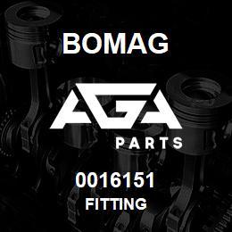 0016151 Bomag Fitting | AGA Parts
