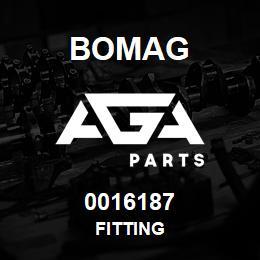 0016187 Bomag Fitting | AGA Parts