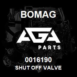 0016190 Bomag Shut off valve | AGA Parts
