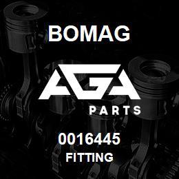 0016445 Bomag Fitting | AGA Parts
