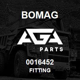 0016452 Bomag Fitting | AGA Parts