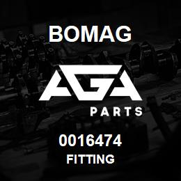 0016474 Bomag Fitting | AGA Parts