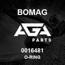 0016481 Bomag O-ring | AGA Parts