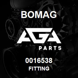 0016538 Bomag Fitting | AGA Parts
