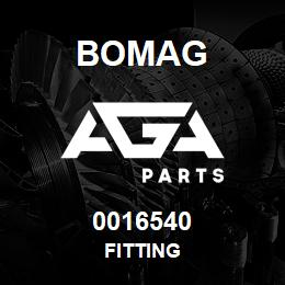 0016540 Bomag Fitting | AGA Parts