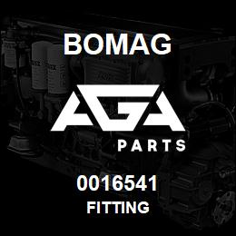 0016541 Bomag Fitting | AGA Parts