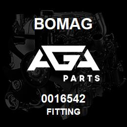 0016542 Bomag Fitting   AGA Parts