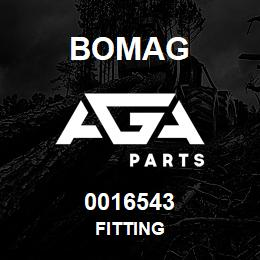 0016543 Bomag Fitting | AGA Parts