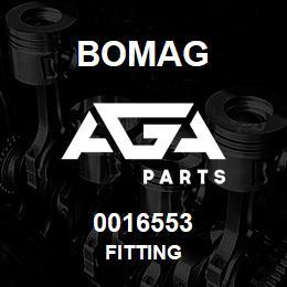 0016553 Bomag Fitting | AGA Parts