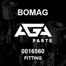 0016560 Bomag Fitting | AGA Parts