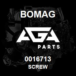 0016713 Bomag Screw | AGA Parts