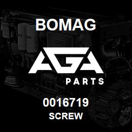 0016719 Bomag Screw | AGA Parts