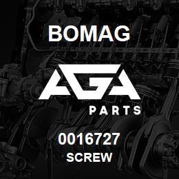 0016727 Bomag Screw | AGA Parts