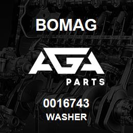0016743 Bomag Washer | AGA Parts