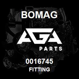 0016745 Bomag Fitting   AGA Parts